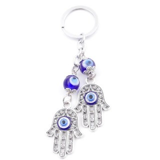 38579 METAL FASHION KEYRING WITH TURKISH EYE