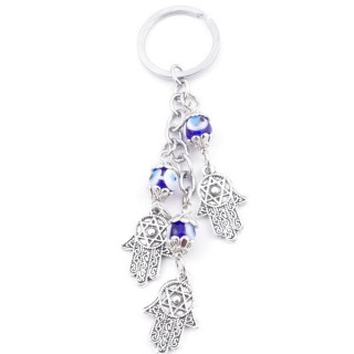 38580 METAL FASHION KEYRING WITH TURKISH EYE