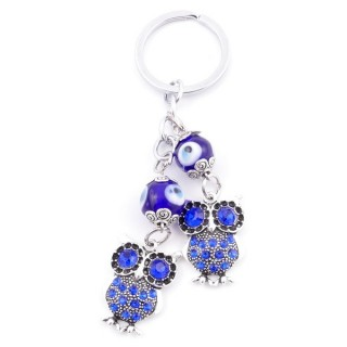38582 METAL FASHION KEYRING WITH TURKISH EYE