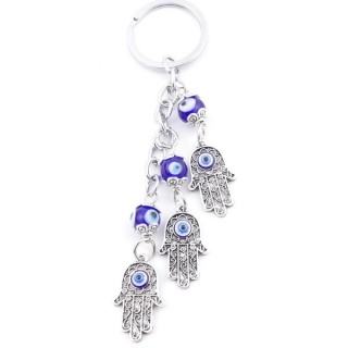 38584 METAL FASHION KEYRING WITH TURKISH EYE
