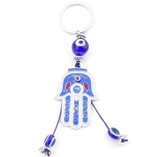 38586 METAL FASHION KEYRING WITH TURKISH EYE