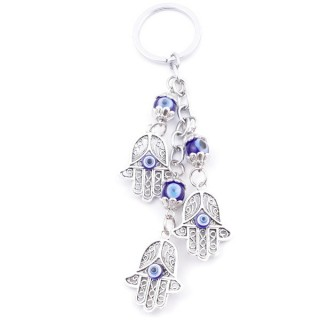 38587 METAL FASHION KEYRING WITH TURKISH EYE