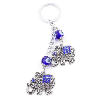 38588 METAL FASHION KEYRING WITH TURKISH EYE