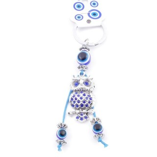 38590-04 METAL FASHION KEYRING WITH TURKISH EYE