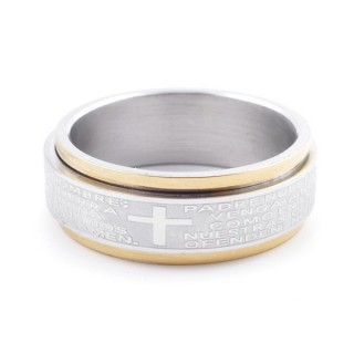 49405 PACK OF 10 STAINLESS STEEL RINGS IN ASSORTED SIZES 8 MM WIDE
