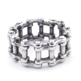 49104 PACK OF 10 STAINLESS STEEL RINGS IN ASSORTED SIZES 11 MM WIDE