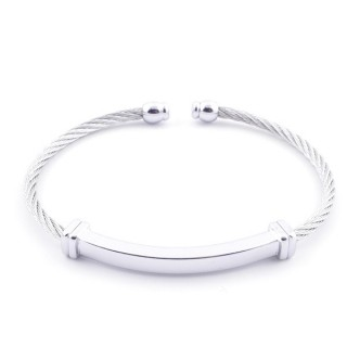 49401 STAINLESS STEEL WIRE BRACELET. IMPECCABLE FINISH