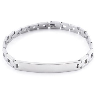 49107-01 STAINLESS STEEL BRACELET IDEAL FOR ENGRAVING. LENGTH: 20 CM