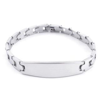 49107-02 STAINLESS STEEL BRACELET IDEAL FOR ENGRAVING. LENGTH: 20 CM