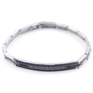 49106-01 ELEGANT STAINLESS STEEL 20 CM LONG BRACELET WITH DESIGN