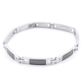 49106-02 ELEGANT STAINLESS STEEL 20 CM LONG BRACELET WITH DESIGN