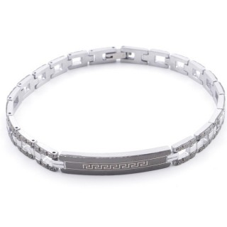 49106-03 ELEGANT STAINLESS STEEL 20 CM LONG BRACELET WITH DESIGN