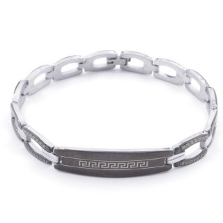49106-05 ELEGANT STAINLESS STEEL 20 CM LONG BRACELET WITH DESIGN