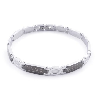 49106-06 ELEGANT STAINLESS STEEL 20 CM LONG BRACELET WITH DESIGN