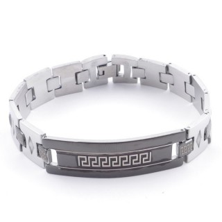 49106-09 ELEGANT STAINLESS STEEL 20 CM LONG BRACELET WITH DESIGN