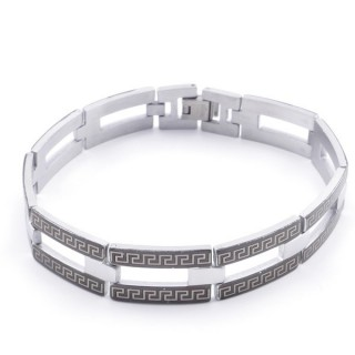 49106-10 ELEGANT STAINLESS STEEL 20 CM LONG BRACELET WITH DESIGN