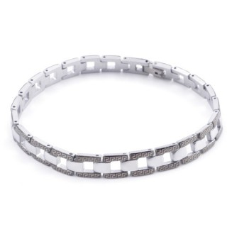 49106-11 ELEGANT STAINLESS STEEL 20 CM LONG BRACELET WITH DESIGN