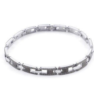 49106-12 ELEGANT STAINLESS STEEL 20 CM LONG BRACELET WITH DESIGN