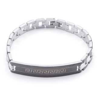49106-13 ELEGANT STAINLESS STEEL 20 CM LONG BRACELET WITH DESIGN