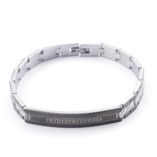 49106-14 ELEGANT STAINLESS STEEL 20 CM LONG BRACELET WITH DESIGN