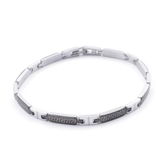 49106-15 ELEGANT STAINLESS STEEL 20 CM LONG BRACELET WITH DESIGN