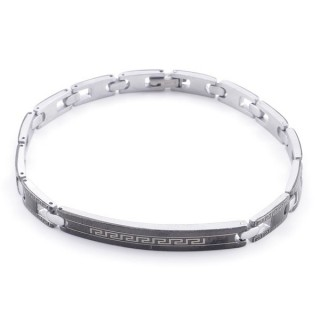 49106-16 ELEGANT STAINLESS STEEL 20 CM LONG BRACELET WITH DESIGN