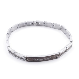 49106-17 ELEGANT STAINLESS STEEL 20 CM LONG BRACELET WITH DESIGN