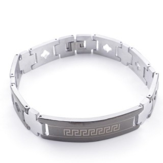 49106-18 ELEGANT STAINLESS STEEL 20 CM LONG BRACELET WITH DESIGN
