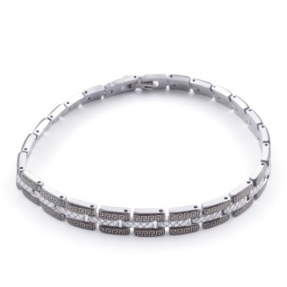 49106-19 ELEGANT STAINLESS STEEL 20 CM LONG BRACELET WITH DESIGN