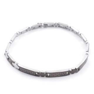 49106-20 ELEGANT STAINLESS STEEL 20 CM LONG BRACELET WITH DESIGN
