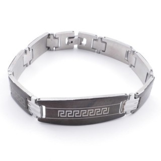 49106-21 ELEGANT STAINLESS STEEL 20 CM LONG BRACELET WITH DESIGN