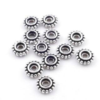 36494 PACK 12 STERLING SILVER 5 X 1 MM DISCS WITH 1 MM HOLE