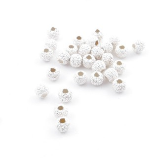 3649900 PACK OF 30 BEADS OF 3 MM IN SILVER 925 WITH 1 MM HOLE
