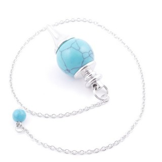 3895403 PENDULUM MADE OF 15 CM CHAIN AND 19 MM STONE IN TURQUOISE