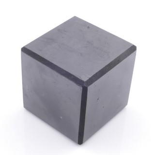 48031 POLISHED 5 CM CUBE IN SHUNGITE STONE FROM RUSSIA