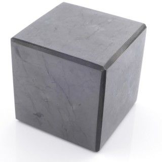 48033 POLISHED 7 CM CUBE IN SHUNGITE STONE FROM RUSSIA