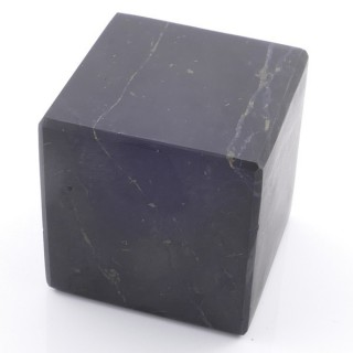 48028 UNPOLISHED 6 CM CUBE IN SHUNGITE STONE FROM RUSSIA