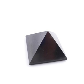 48012 POLISHED 4 CM PYRAMID EN SHUNGITE STONE FROM RUSSIA
