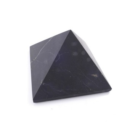 48004 UNPOLISHED 6 CM PYRAMID EN SHUNGITE STONE FROM RUSSIA