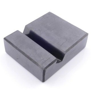 48048 MOBILE DISPLAY STAND IN POLISHED RUSSIAN SHUNGITE 3 X 8 X 10 CM
