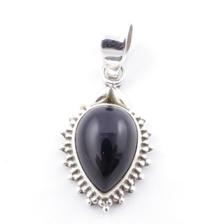 58700-04 SILVER 925 PENDANT 25 X 15 MM WITH ONYX STONE