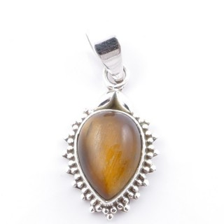 58700-11 SILVER 925 PENDANT 25 X 15 MM WITH TIGER'S EYE STONE