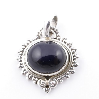 58701-04 SILVER 925 PENDANT 21 X 19 MM WITH ONYX STONE