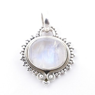 58701-05 SILVER 925 PENDANT 21 X 19 MM WITH MOONSTONE STONE