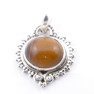 58701-11 SILVER 925 PENDANT 21 X 19 MM WITH TIGER'S EYE STONE