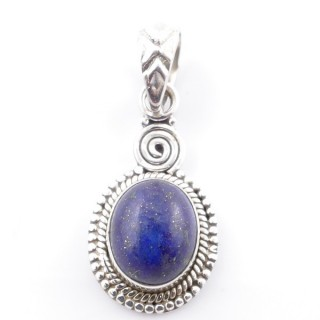 58702-02 SILVER 925 PENDANT 26 X 14 MM WITH LAPIS LAZULI STONE