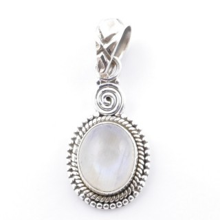 58702-05 SILVER 925 PENDANT 26 X 14 MM WITH MOONSTONE STONE