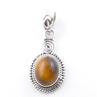 58702-11 SILVER 925 PENDANT 26 X 14 MM WITH TIGER'S EYE STONE