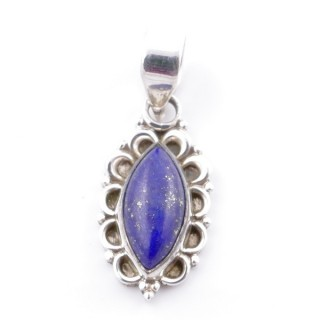 58703-02 SILVER 925 PENDANT 23 X 12 MM WITH LAPIS LAZULI STONE