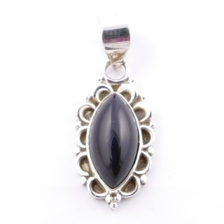 58703-04 SILVER 925 PENDANT 23 X 12 MM WITH ONYX STONE